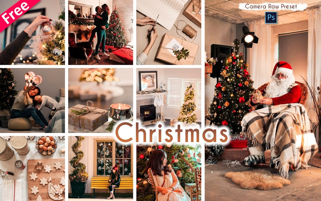 Download Christmas Camera Raw Presets for Free | How to Edit Christmas in Photoshop cc