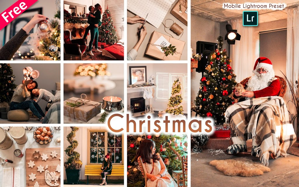 Download Christmas Mobile Lightroom Presets dng for Free | How to Edit Christmas Photos in Mobile Lightroom App