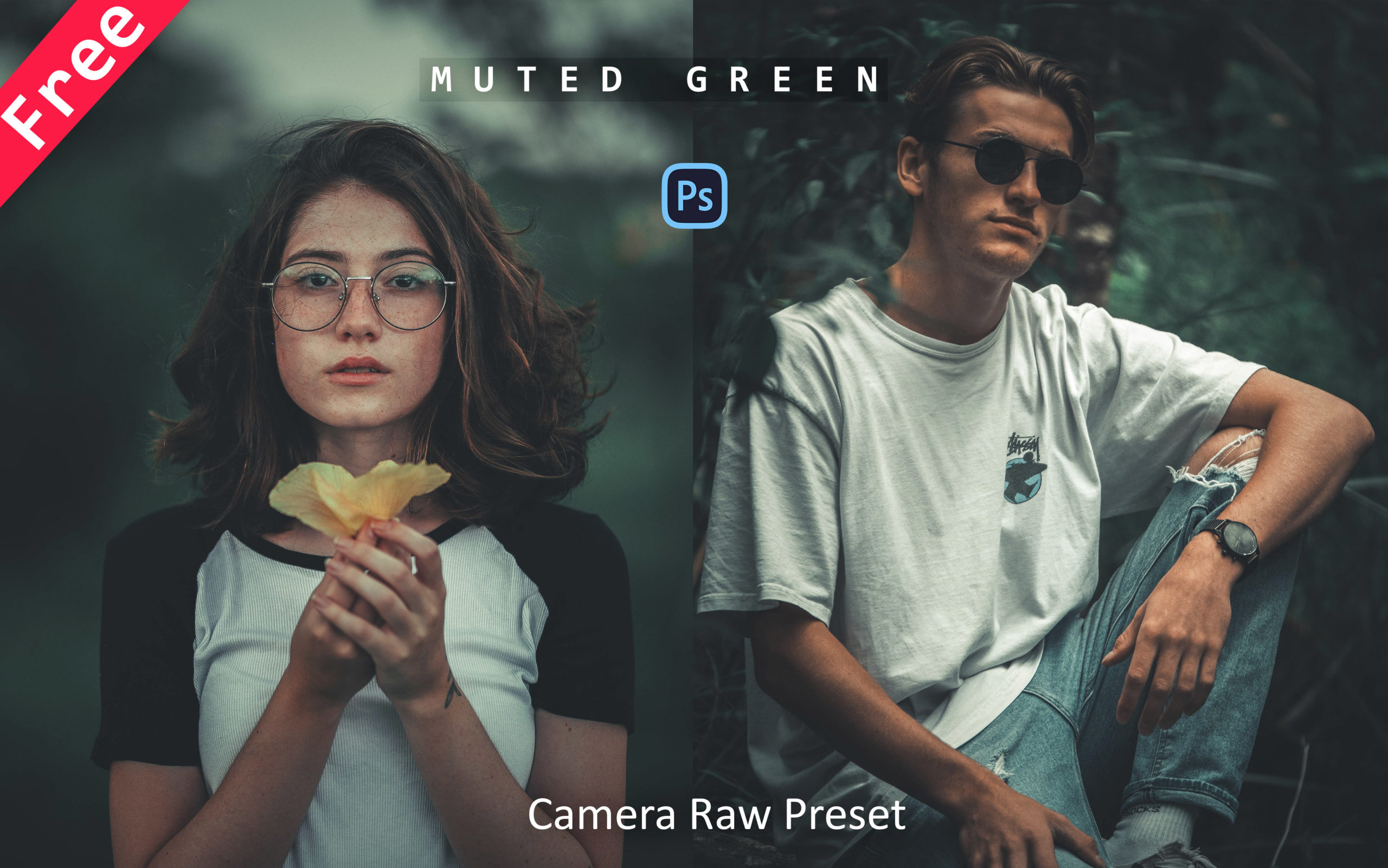 Download Muted Green Camera Raw Preset for Free | How to Edit Photos Like Muted Green Tone in Photoshop