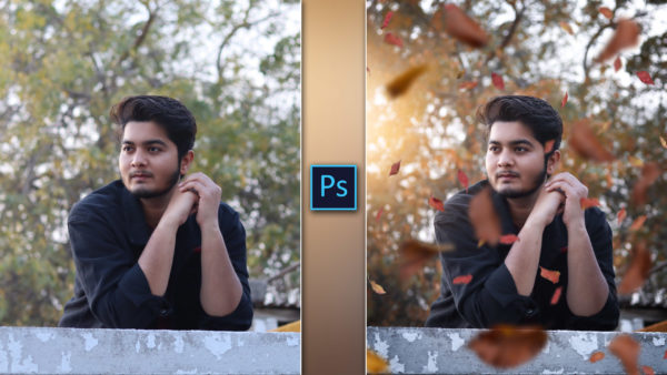 How to Make Autumn Effect with Falling Leaves Photo Editing in Photoshop
