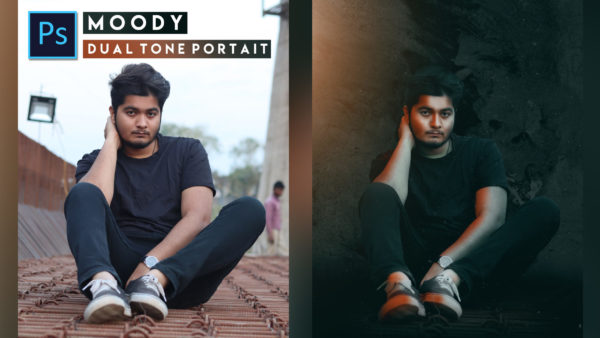 Moody Dark Dual Tone Photo Editing in Photoshop cc of 2020