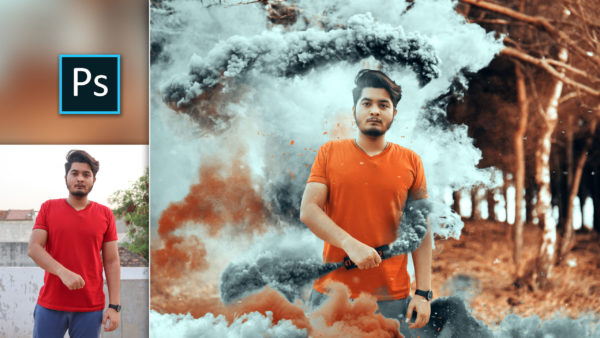Color Smoke Bomb Photo Manipulation in Photoshop cc | Color Bomb Photo Editing in Photoshop cc
