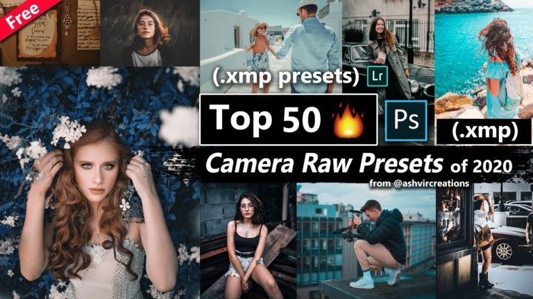 Download Top 50 Camera Raw Presets of 2020 of 2020 | Top 50 xmp Preset Pack of 2020 for Free