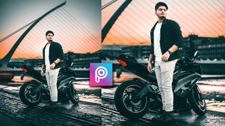 Realistic Biker PicsArt Photo Manipulation | PicsArt Editing Tutorial in HINDI | Heavy Biker