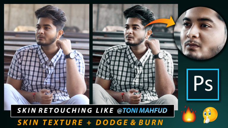 How to Create Skin Texture & Dodge & Burn Like @tonimahfud in Photoshop | Skin Retouching Like Toni Mahfud + Free Preset