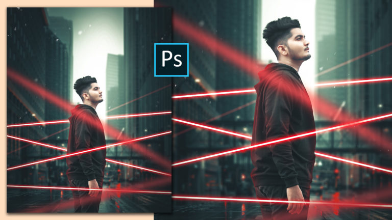 Realistic Neon Lights Cinematic Photo Manipulation in Photoshop cc Like Hollywood Movie | Neon Portrait Editing