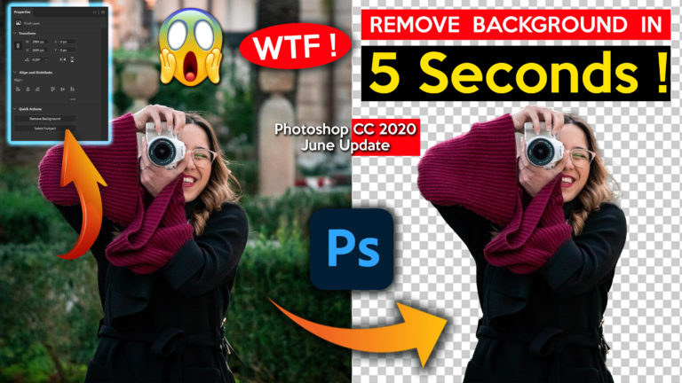 Remove Background in 5 Seconds in Photoshop CC | Secret Trick of 2020 | How to Remove Background in Photoshop Quick & Easy | Erase Background in Photoshop Easily