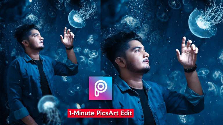 1-Minute PicsArt Tutorial in Hindi | Calop Style Jellyfish Photo Manipulation in Mobile PicsArt App