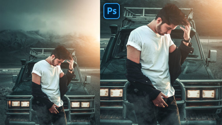 Moody Cinematic Realistic Photo Manipulation in Photoshop CC | Moody Mountain Photo Editing + Preset