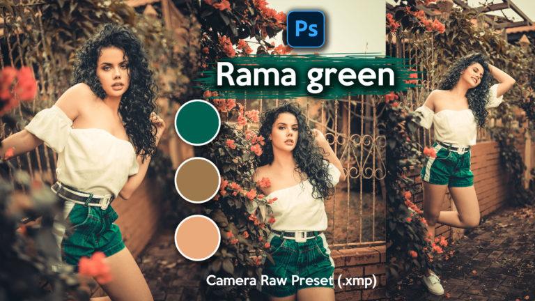 Download Rama Green Camera Raw XMP Preset of 2020 for Free | Rama Green Camera Raw Preset of 2020 Download free XMP Preset | How to Edit Like Rama Green Colorgrading