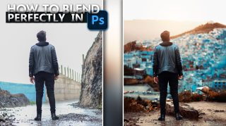 Travel Photo Editing | How to Perfectly Blend Photo With Background in Photoshop CC | How to Match Photo with Background in Photoshop