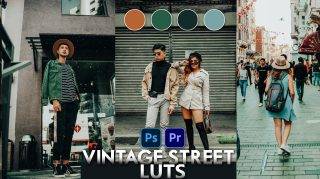 Download Free Vintage Street LUTs | How to Colorgrade Photos & Videos Like Vintage Street Effect in Photoshop & Premiere Pro