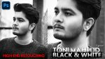 Black & White High End Portrait Retouching Like @tonimahfud in Photoshop Hindi Tutorial + Top 10 Black & White Presets