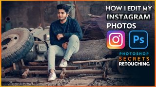 How i Retouch My Instagram Photos in Photoshop Hindi Tutorial + Free Insta Travel Blue Preset