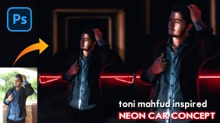 Toni Mahfud Inspired Neon Car Lights Photo Manipulation in Photoshop cc | How to Edit Like Toni Mahfud in Photoshop cc