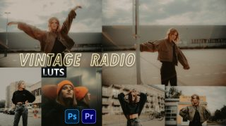 Download Free Vintage Radio LUTs   How to Colorgrade Photos & Videos Like Vintage Radio Effect in Photoshop & Premiere Pro