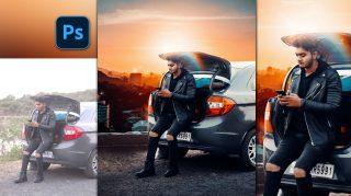 Cinematic Sunset Stylish Boy on Car Photo Manipulation in Photoshop cc | Sam Kolder Inspired Photo Manipulation in Photoshop