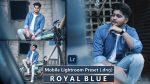 Download Royal Blue Mobile Lightroom Presets DNG of 2021 for Free | Royal Blue Mobile Lightroom Preset DNG of 2020 Download free | How to Edit Like Royal Blue Tones