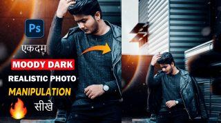 Realistic Moody Dark Photo Manipulation in Photoshop CC + FREE LENS FLARE, PRESET, BACKGROUND | How to Edit Like Toni Mahfud in 2021