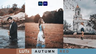 Download Free Autumn RED LUTs of 2021 | How to Colorgrade Autumn RED Effect to Photos & Videos in Photoshop & Premiere Pro