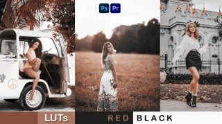 Download Free RED BLACK LUTs of 2021 | How to Colorgrade RED BLACK Effect to Photos & Videos in Photoshop & Premiere Pro