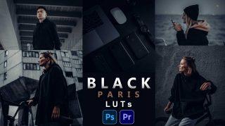 BLACK PARIS LUTs of 2021 | How to Colorgrade BLACK PARIS Effect to Photos & Videos in Photoshop & Premiere Pro