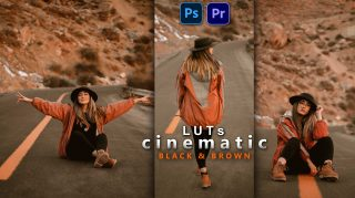 Cinematic Black & Brown LUTs of 2021 | How to Colorgrade Cinematic Black & Brown Effect to Photos & Videos in Photoshop & Premiere Pro