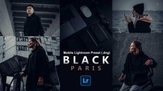 BLACK PARIS Lightroom Mobile Presets DNG of 2021 for Free | BLACK PARIS Mobile Lightroom Preset DNG of 2021 for free