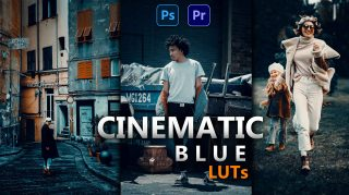 Cinematic Blue LUTs of 2021 | How to Colorgrade Cinematic Blue Effect to Photos & Videos in Photoshop & Premiere Pro