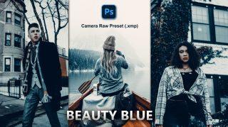Beauty BLUE Camera Raw XMP Preset of 2021 for Free | Beauty BLUE Camera Raw Preset of 2021 Free XMP Preset
