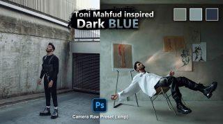 Toni MAHFUD Dark Blue Camera Raw XMP Preset of 2021 for Free | Toni MAHFUD Dark Blue Camera Raw Preset of 2021 Free XMP Preset